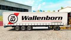 Wallenborn de la piel en el trailer de la cortina para Euro Truck Simulator 2
