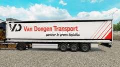 La piel Van Dongen de Transporte semi-remolque de la cortina para Euro Truck Simulator 2