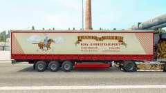 La piel de Frank de Ridder en una cortina semi-remolque para Euro Truck Simulator 2