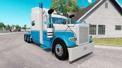 La piel del Bebé Azul y Blanco para el camión Peterbilt 389 para American Truck Simulator