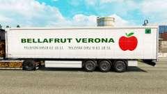 La piel Bellafrut Verona en la cortina semi-remolque para Euro Truck Simulator 2
