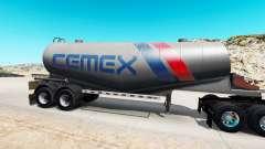 La piel de Cemex a semi-tanque de cemento para American Truck Simulator