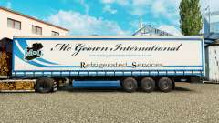 La piel Mc Geown en una cortina semi-remolque para Euro Truck Simulator 2