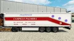 La piel de Campillo Palmera en una cortina semi-remolque para Euro Truck Simulator 2
