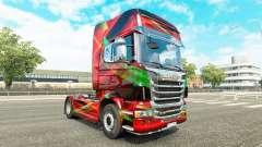 Rojo Efecto de la piel para Scania camión para Euro Truck Simulator 2