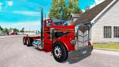 El Rojo y el Negro de la piel para el camión Peterbilt 351 para American Truck Simulator