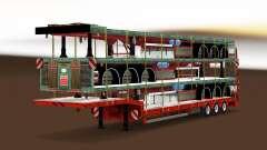 Baja de barrido con una carga de semi-remolques para Euro Truck Simulator 2