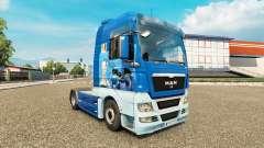 La piel Napoli en el tractor HOMBRE para Euro Truck Simulator 2