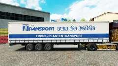 La piel de Transporte VdV en una cortina semi-remolque para Euro Truck Simulator 2