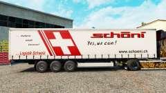La piel Schoni en una cortina semi-remolque para Euro Truck Simulator 2