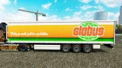 La piel Globus cortina semi-remolque para Euro Truck Simulator 2