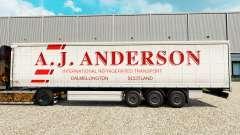 La piel de A. J. Anderson en una cortina semi-remolque para Euro Truck Simulator 2