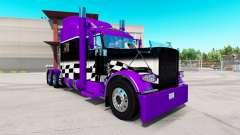 Скин Púrpura y Negro comprobador de на Peterbilt 389 para American Truck Simulator