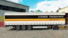 Steiner Transporte de la piel en el trailer de la cortina para Euro Truck Simulator 2