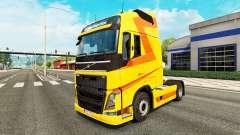 Amarillo de la piel para camiones Volvo para Euro Truck Simulator 2