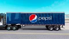 La piel de Pepsi en una cortina semi-remolque para American Truck Simulator
