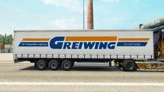 La piel Greiwing en una cortina semi-remolque para Euro Truck Simulator 2
