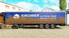 La piel de Kirchner en una cortina semi-remolque para Euro Truck Simulator 2