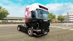 La piel del Rey de La Carretera en el tractor Scania para Euro Truck Simulator 2