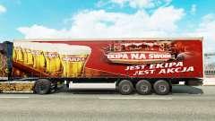 La piel Warka en una cortina semi-remolque para Euro Truck Simulator 2
