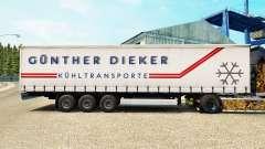 La piel Gunther Dieker en una cortina semi-remolque para Euro Truck Simulator 2