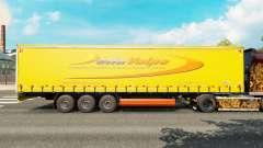 La piel DellaVolpe en una cortina semi-remolque para Euro Truck Simulator 2