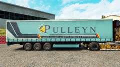 La piel Pulleyn en una cortina semi-remolque para Euro Truck Simulator 2
