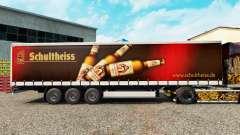 La piel Schultheiss en una cortina semi-remolque para Euro Truck Simulator 2