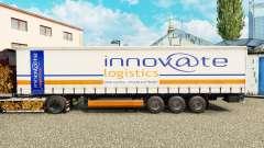La piel Innovar Logística en una cortina semi-remolque para Euro Truck Simulator 2