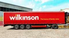 La piel Wilkinson en una cortina semi-remolque para Euro Truck Simulator 2