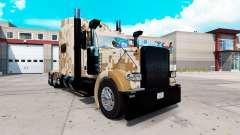Camo de la piel para el camión Peterbilt 389 para American Truck Simulator