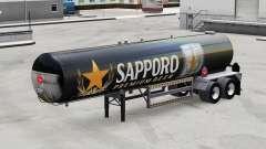 La piel de Sapporo para la semi-tanque para American Truck Simulator