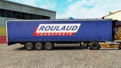 La piel Roulaud Transporta en una cortina semi-remolque para Euro Truck Simulator 2