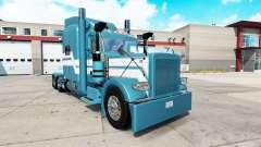 Hielo azul de la piel para el camión Peterbilt 389 para American Truck Simulator