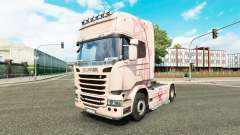La piel Pink Panter en el tractor Scania para Euro Truck Simulator 2