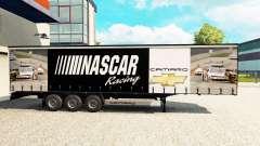 La piel de NASCAR en una cortina semi-remolque para Euro Truck Simulator 2