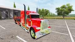 Peterbilt 388 flatbed auto load para Farming Simulator 2017