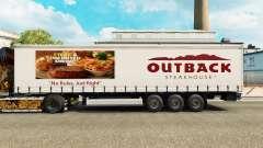 La piel Outback Steakhouse en una cortina semi-remolque para Euro Truck Simulator 2