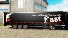 La piel Rápida Internationale Transporte en semi-remolque para Euro Truck Simulator 2