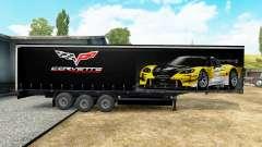 La piel en el Corvette de Carreras de remolque para Euro Truck Simulator 2