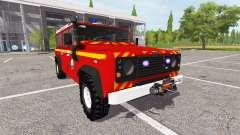 Land Rover Defender 110 feuerwehr para Farming Simulator 2017