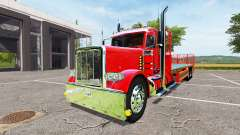 Peterbilt 388 flatbed day cab para Farming Simulator 2017