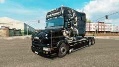 Dark Reaper de la piel para camión Scania T para Euro Truck Simulator 2