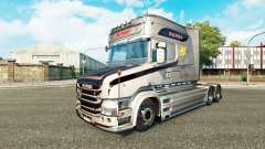 El Vabis V8 Metálico de la piel para camión Scania T para Euro Truck Simulator 2