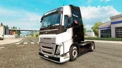 El Blanco y Negro de la piel para camiones Volvo para Euro Truck Simulator 2
