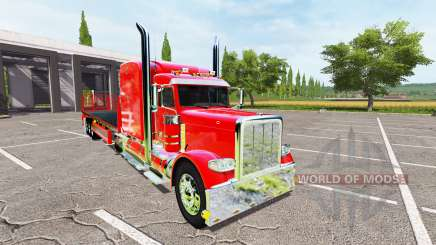 Peterbilt 388 flatbed auto load para Farming Simulator 2017