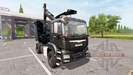 MAN TGS 18.480 wood crusher para Farming Simulator 2017