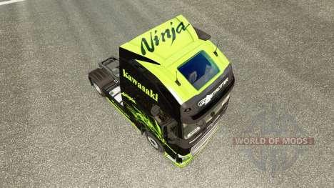 La piel de la Kawasaki Ninja para camiones Volvo para Euro Truck Simulator 2