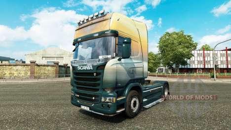 La piel de los Ángeles en el Cielo tractor Scani para Euro Truck Simulator 2