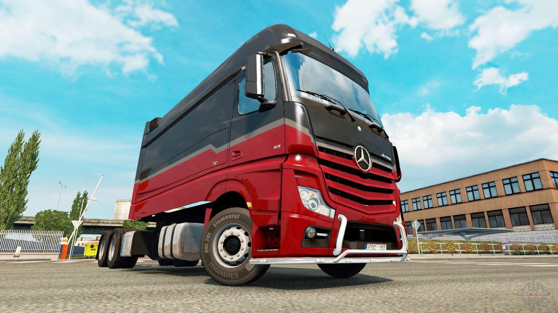 Mercedes benz actros mp4 longline para euro truck simulator 2 for Mercedes benz euro